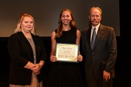 Emma Carter graduates for the Roger's Scholar program