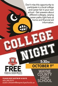 Flyer for College Night