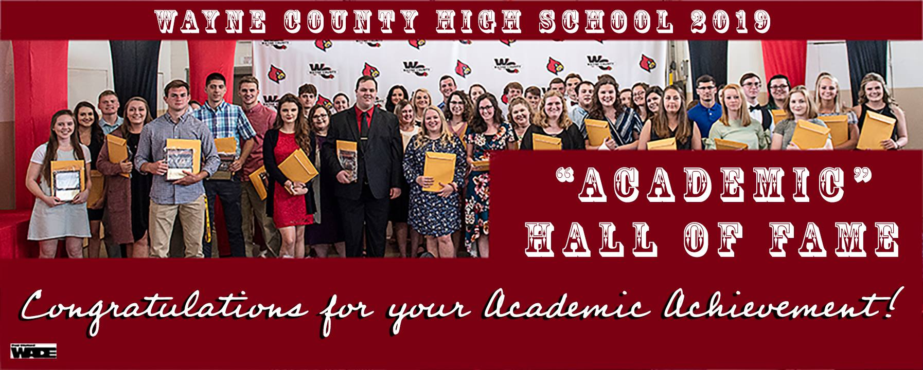 2019 Wayne County High School Academic Hall of Fame (Pictured by Wade Upchurch)
