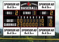 LED baseball scoreboard