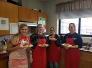 High School Students enjoy making Hot Brown's