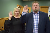 (Left to Right) Whitney Smith and Jarrod Criswell swore to uphold their duties