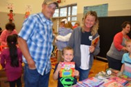 Grandparents participate in book fair
