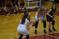Macey Blevins takes a free throw shot