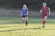 Shelby Bell controlling the ball