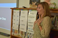 New Horizons Coach Heather Price teaches sound combinations