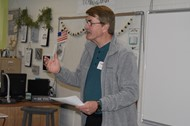 Local Pharmacist Joey Silvers spoke to students
