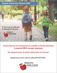 Schedule Healthy Kids Clinic school entry physicals