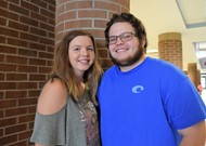 Kenzie and Nate before the end of school