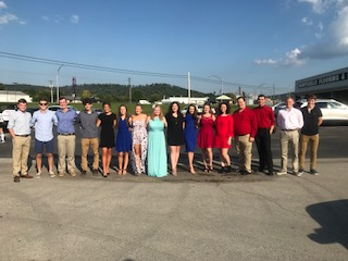 homecoming group photo