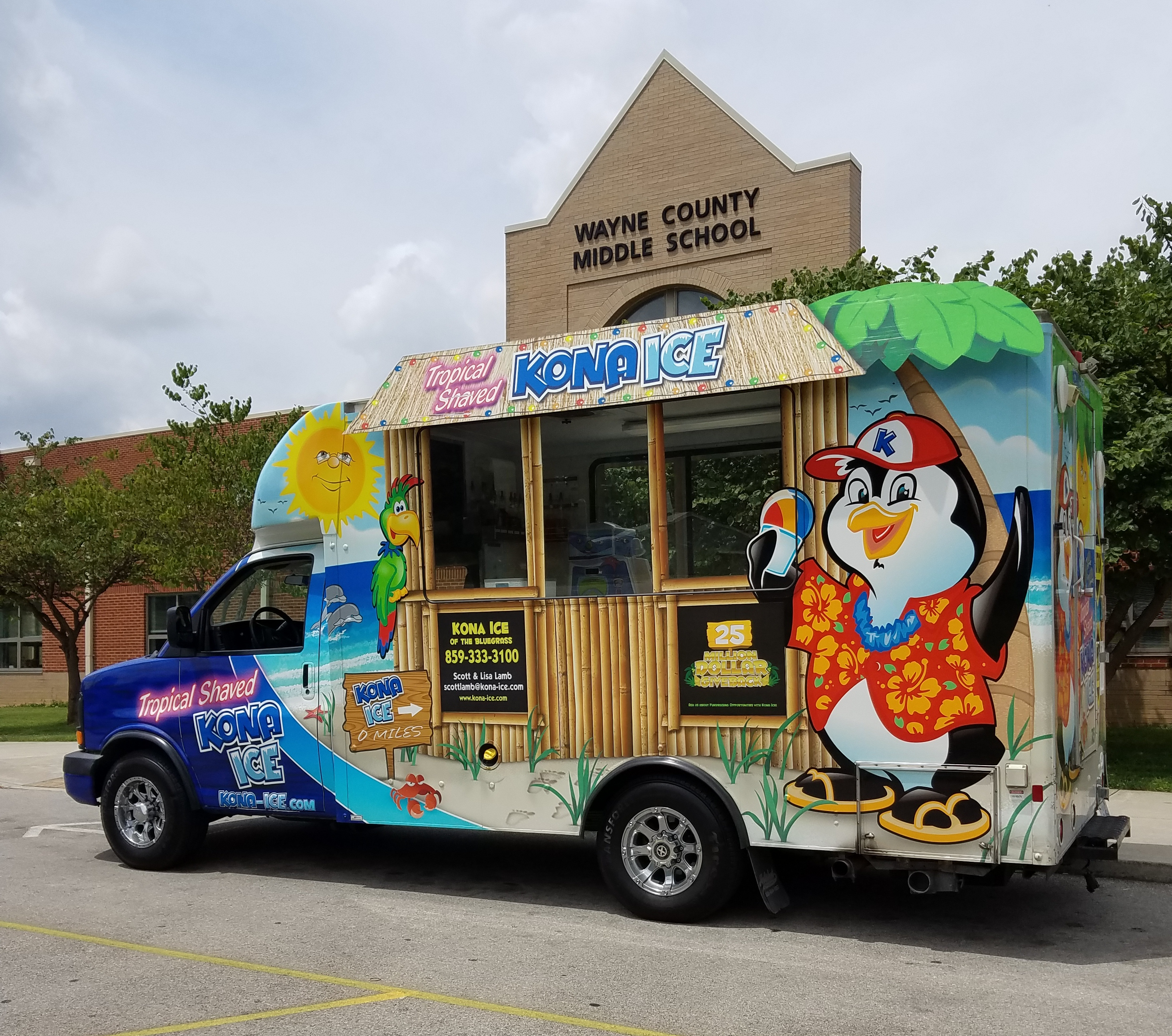 Kona Ice truck visits the Middle School