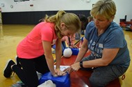 6th grader Kensey Bowlin learned safety tips from her teacher