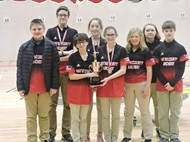 Middle School team placed 1st