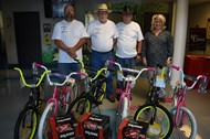 Monticello Lodge 431 donates bicycles and helmets to Monticello Elementary