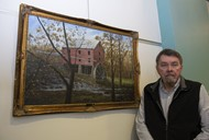 Artist David Coffey Below the Mill painting