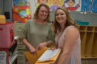 Preschool Instructional Assistant  with Parent Whitney Sullivan, whose son Grayson is in her classroom