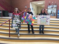 Senture-sponsored anti-bullying poster contest at the Middle School
