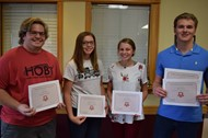 Students Nate Helton, Mckenzie Crabtree, Nicole Hesse, and Colton Morrow were all honored for participating in these events