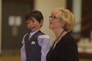 Ventriloquist provides interesting program for fifth graders