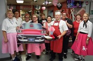 WCHS lunchroom staff step beack into the fifties