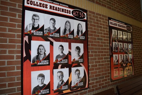 College Ready wall in foyer of High School