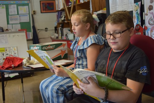 Page Turners Book Club inspire younger students