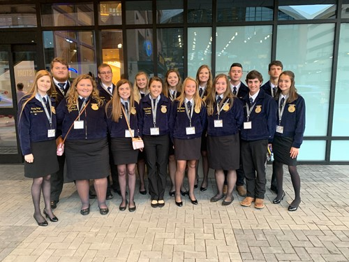 Local FFA Students attend National Conference in Indianapolis