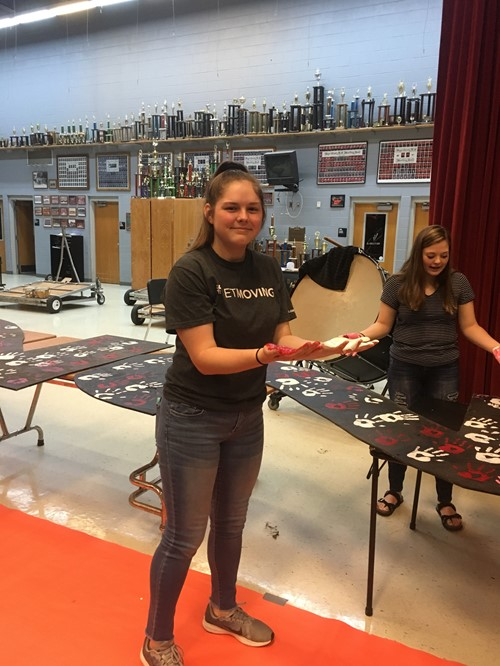 Handprints are becoming a common tradition at WCHS for all freshman students