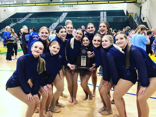 Dance Team Region Runner-up's in KHSAA Competition