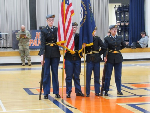 Wayne County JROTC Color Guard Team Impressive at North Bullitt High School Drill Meet