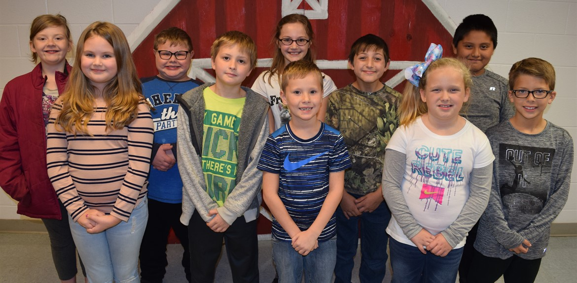 Top Accelerated Reading Program students at Monticello Elementary