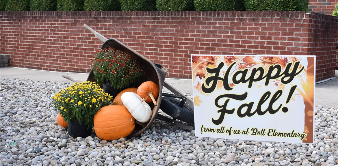 Bell Elementary wishes students and families a happy fall