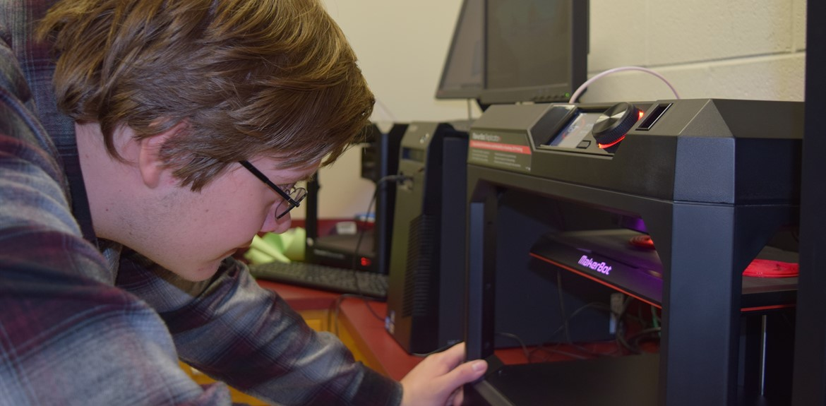 Greg Ryan and classmates learn 3D Printing Skills at WCHS