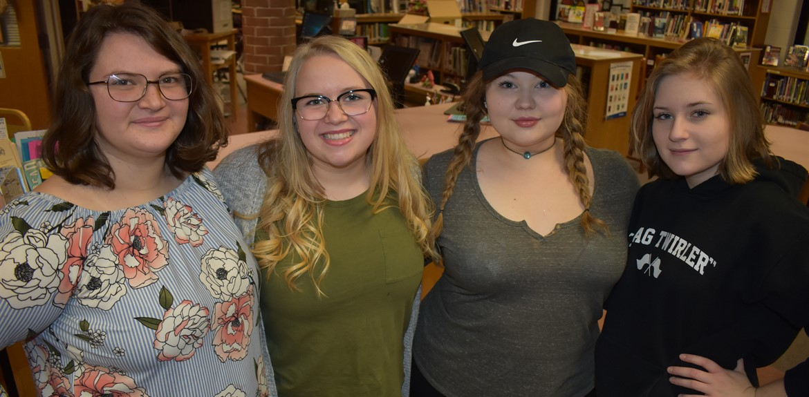 The 2018-2019 Student Mentors (l-r) Callista Mann, Shanna Rice, Lauren Hughes, and Maggie Stinson