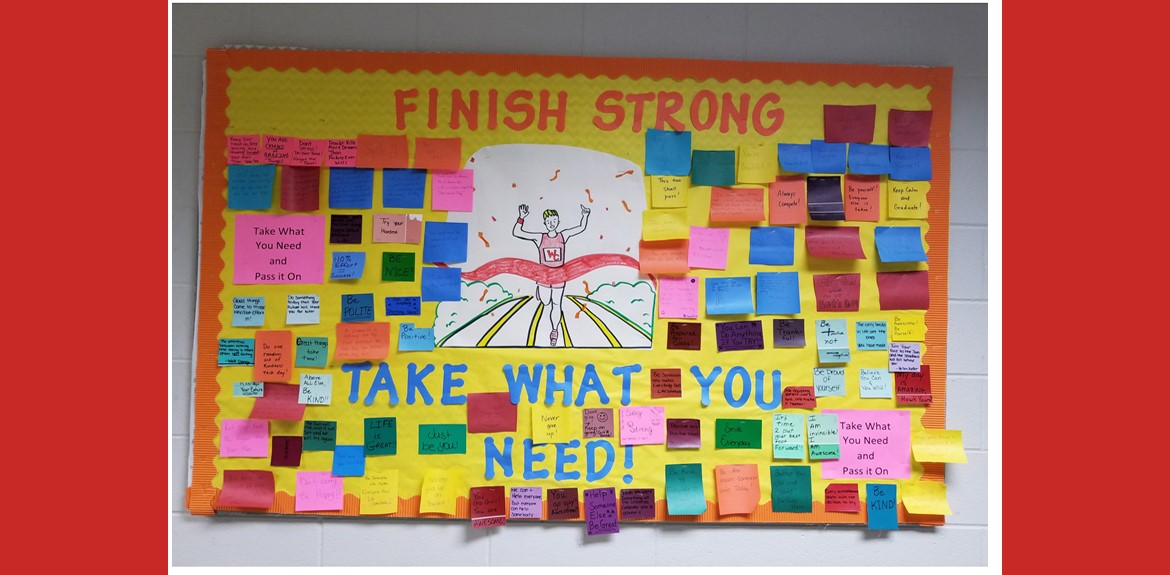 WCHS Staff passes along positive notes to encourage students