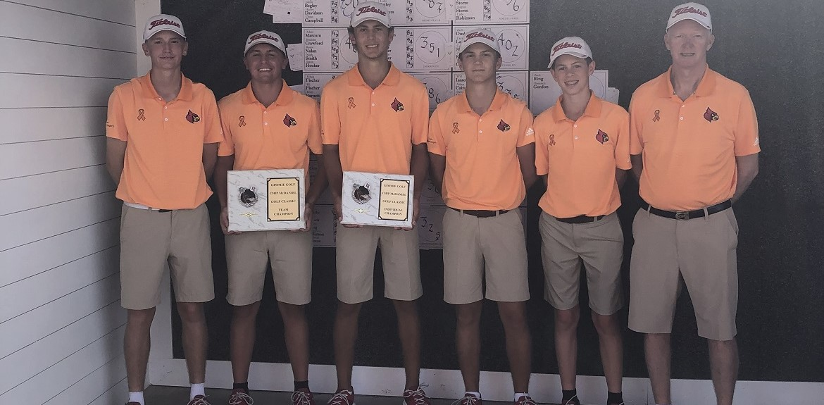 The WCHS Golf Team won the championship at Boone's Trace