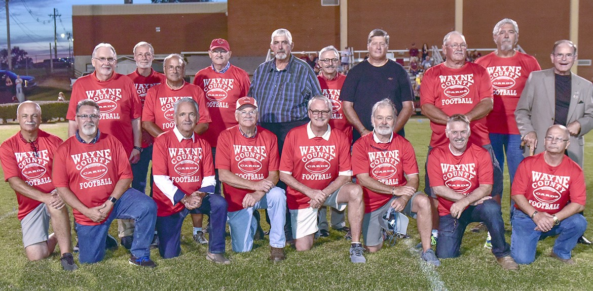 Wayne County High School's First Football team celebrates 50 year reunion