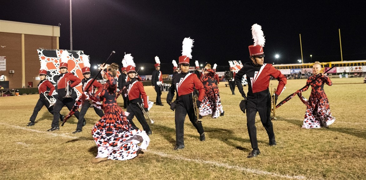 "WCHS Marching Band performs ""House of Cards"" at the football game"