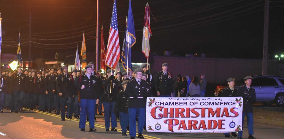 Wayne County Schools participated in the local Christmas Parade