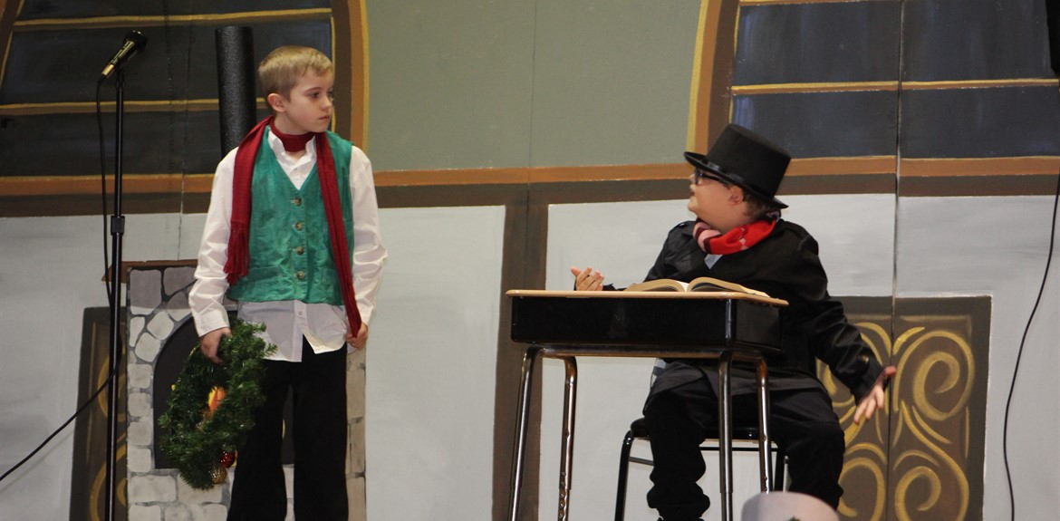 Actors perform A Christmas Carol