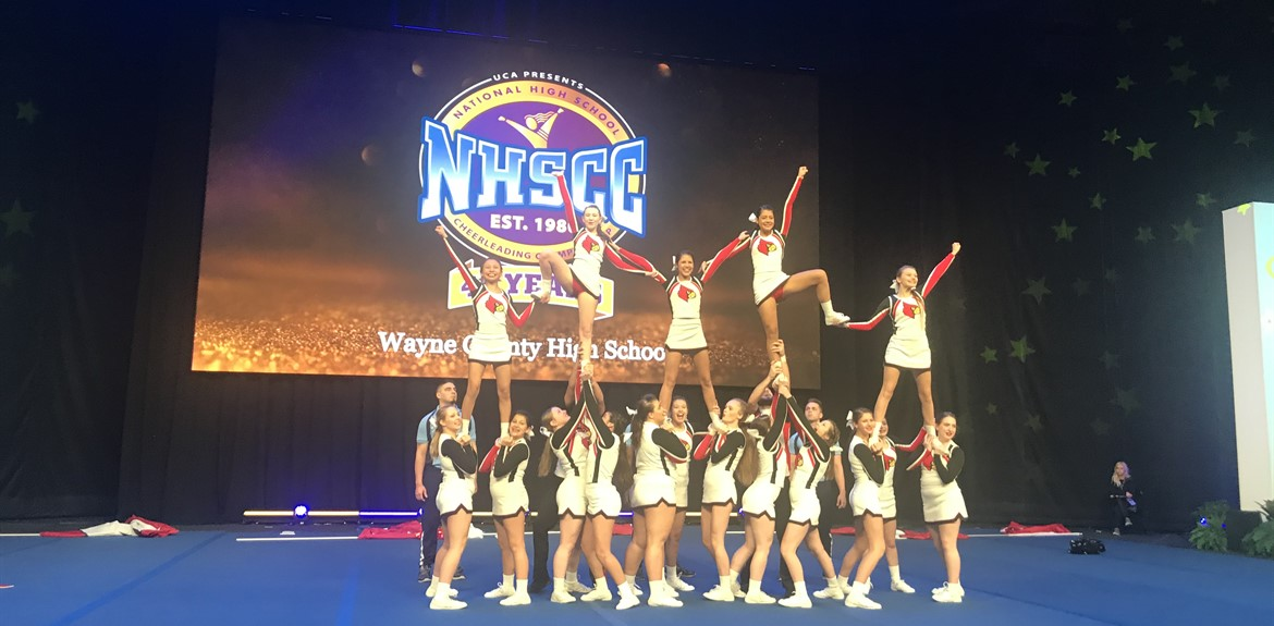 Wayne County Varsity Cheerleaders performed at the UCA National High School Cheerleading Championships