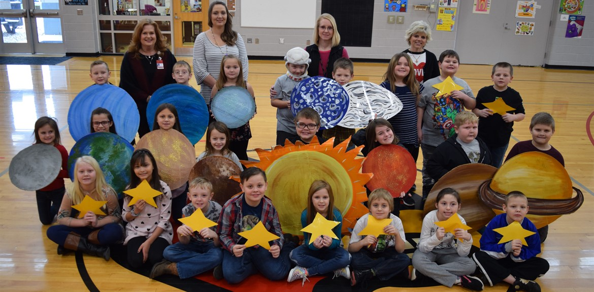 2nd Graders portray the Solar System