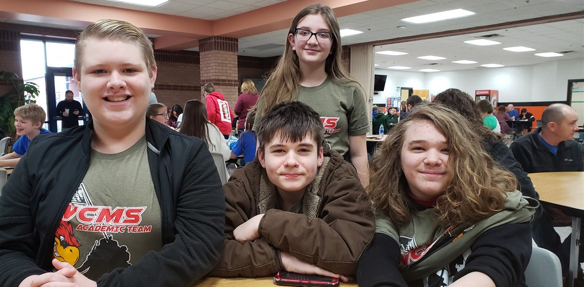 Congrats WCMS Academic Team members who advanced to Region