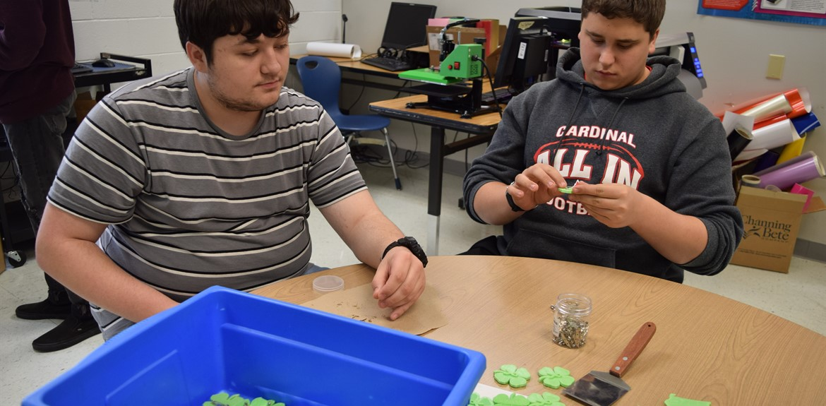"Tech Design Students work on ""Clovers for Cures"""