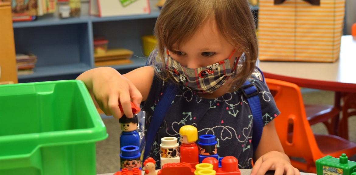 Preschooler Maci Floyd enjoyed orientation at Walker Early Learning Center