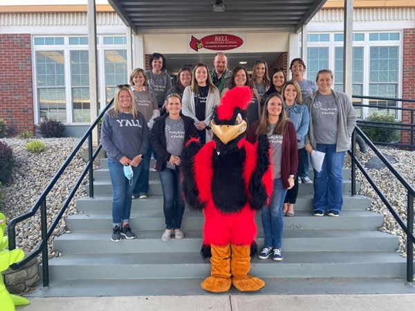 Bell Elementary Staff who worked the Seeds of Learning Drive Thru