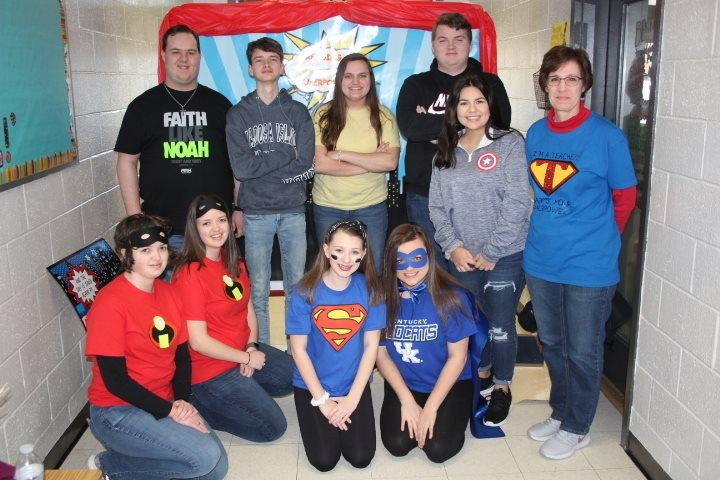 FBLA students helped with the literacy event