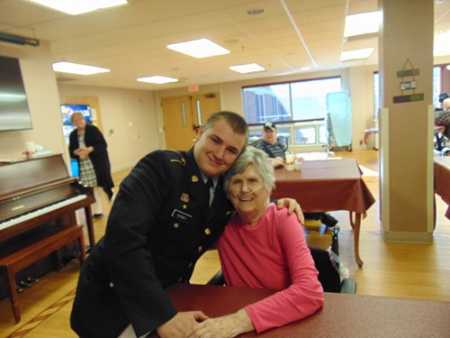 88 year old Rita and cadet Jeremiah Denney
