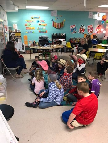 Students enjoyed being read to in the classroom