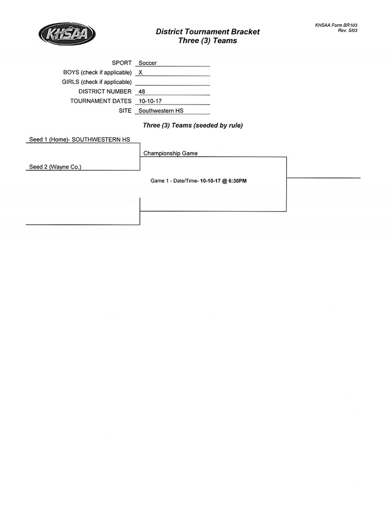 Boys District Turnament